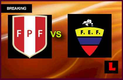Peru vs. Ecuador 2013 Battles for Copa Mundial Spot en vivo live score results today