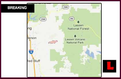 Ponderosa Fire Map 2012 Prompts New Evacuations as Manton, California Wildfire Grows