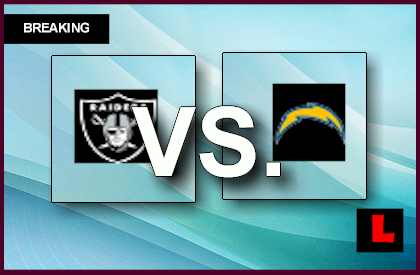 Raiders vs. Chargers 2013: Darren Mcfadden Scores on Run live score results channel today game