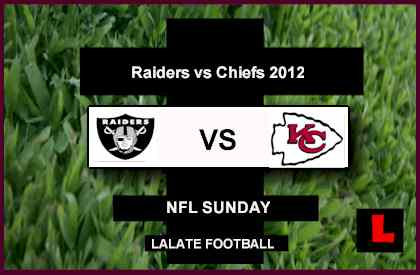 score live Raiders vs. Chiefs 2012 Battle in Sunday Showdown