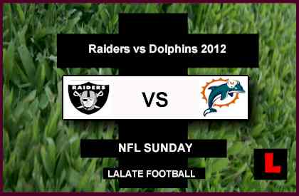 score Raiders v Dolphins 2012: Carson Palmer Delivers Mike Goodson Touchdown Pass