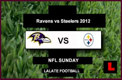 score live Ravens vs Steelers 2012: Joe Flacco Battles Ben Roethlisberger