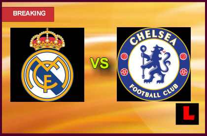 Real Madrid vs. Chelsea 2013 Battles in Soccer Cup Game Today en vivo live score results today
