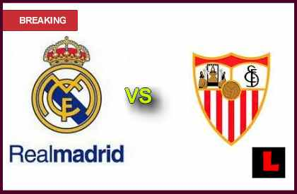 Real Madrid vs Sevilla 2013 Competes in Estadio Santiago Bernabeu score results live en vivo soccer