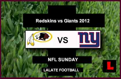 score live Redskins vs. Giants 2012: RG3 Battles Eli Manning