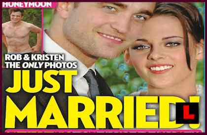 Kristen Stewart   Pattinson Married on Robert Pattinson And Kristen Stewart Married On Cover