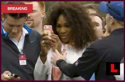 Serena Busted For Tiger Woods Photo at Honda Classic