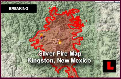 Silver Fire Map: Kingston, New Mexico Wildfire Spreads East