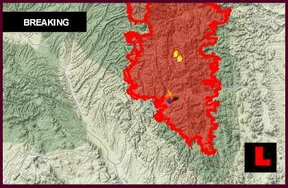 Silver Fire Map 2013 New Mexico Wildfire Moves Fast In Quaking Aspen
