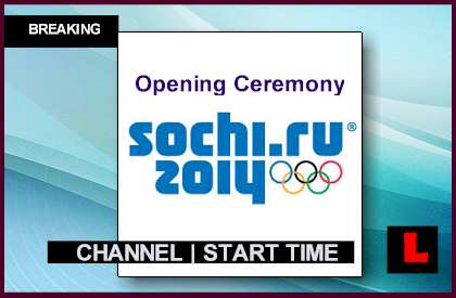 Channel is what is the Start Time Gets Russia winter Olympics nbc
