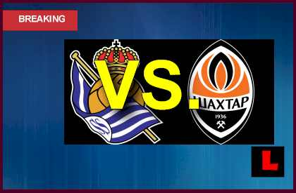 Real-Real Sociedad vs. Shakhtar Donetsk 2013 Heads to Champions League  en vivo live score results today