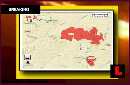 Southeastern Montana Complex Fire Map Grows as Montana Wildfires Spread