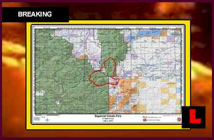 Squirrel Creek Fire Map Prompts New Wyoming Wildfire Evacuations