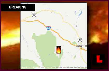 Squirrel Creek Fire Map Expands Wyoming Wildfires 2012 Threat