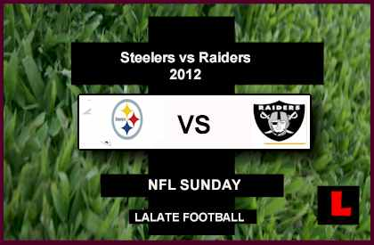 score Steelers vs Raiders 2012: Ben Roethlisberger Battles Carson Palmer