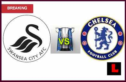 score live results Swansea City vs. Chelsea 2013 Head to Capital One Cup Semifinals