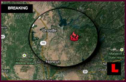 Swedes Fire Map 2013: Oroville, California Wildfire Strikes Butte County