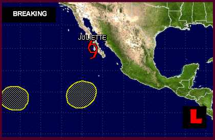 TS Juliette Projected Path Updated by National Hurricane Center