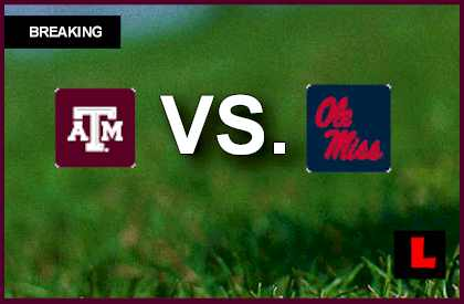 Texas A&M vs. Ole Miss 2013: Johnny Manziel Scores TD live score results channel today game