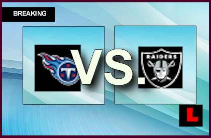 Titans vs. Raiders 2013: Oakland Scores Early Field Goal Today live score results channel today game