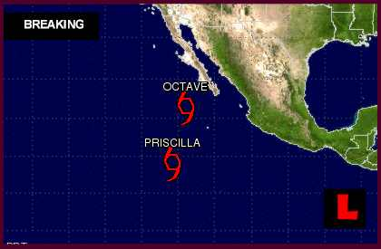 Tropical Storm Priscilla 2013 Projected Path Impacts Mexico