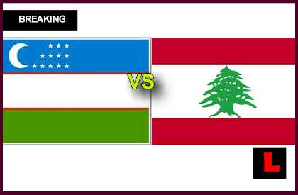 en vivo live score results today Uzbekistan vs. Lebanon 2013 Prompts Group a Struggle