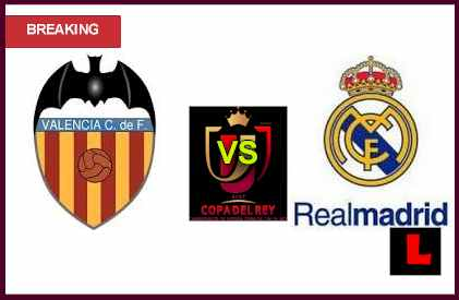 en vivo live score Valencia vs. Real Madrid 2013 Return to Copa del Rey Quarterfinals