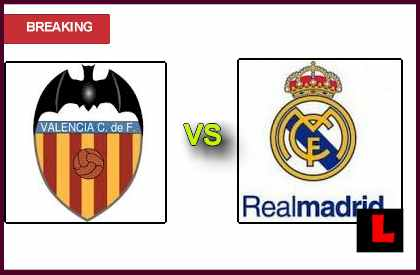 en vivo live score Valencia vs. Real Madrid 2013 Prompt Sunday Struggle