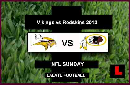 score live Vikings vs Redskins 2012: RG3, Adrian Peterson Starting Sunday