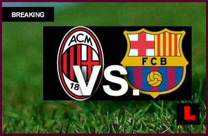AC Milan vs. Barcelona 2013 Score Heats Up UEFA Champions League en vivo live score results today