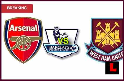 score live results Arsenal vs. West Ham United 2013: Wenger Tries for Top 5 Ranking