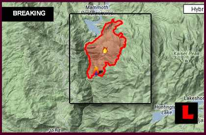 Aspen Fire Map 2013: Big Creek, California Wildfire Grows Overnight