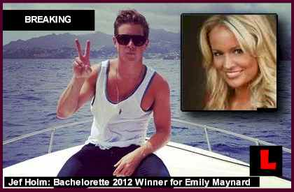 Bachelorette 2012 Winner Jef Holm and Emily Maynard Battle Spoilers