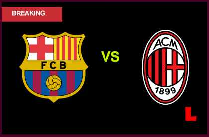 live score results Barcelona vs AC Milan 2013 Battles in UEFA Round of 16