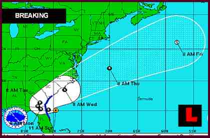 Sub-Tropical Storm Beryl Prompts Georgia, Florida Concerns
