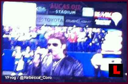 Billy Ray Cyrus Signs National Anthem But Silent about Divorce