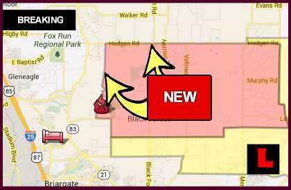 Black Forest Fire Map 2013 Grows Mandatory Evacuation Area Map