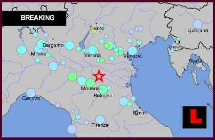 italy earthquake 2012