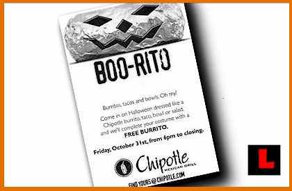 Chipotle Gets Boorito - Halloween Tonight