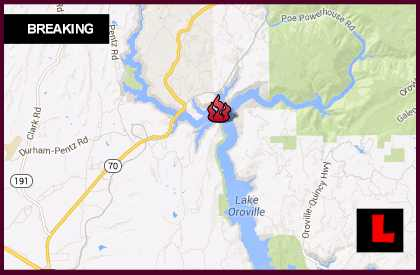 Branch Fire Map 2013: California Wildfire Spreads Near Lake Oroville l