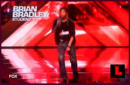 Brian Bradley The X Factor - Tells Simon Cowell to Stop Looking at his Mom
