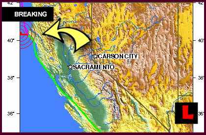 California Earthquake Today 2012 Felt from Eureka to Oregon