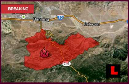 Cabazon, Silver Fire Map 2013 Update: Banning, CA Fire Heads North  latest news