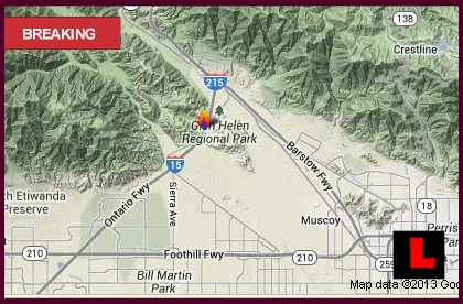 Cajon Pass Fire Map 2013: Sierra Fire Grows Overnight in So Cal