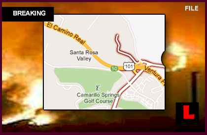 Camarillo Fire 2013 Map: Ventura Wildfire Strikes 101 Freeway