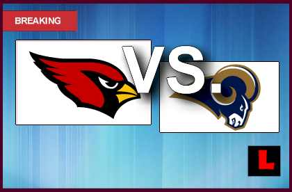 Cardinals vs Rams 2013: Fitzgerald Scores Early with Carson Palmer score live results today