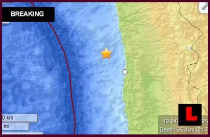 Chile Earthquake Today 2014: 7.0 Terremoto Hits Coast March 16