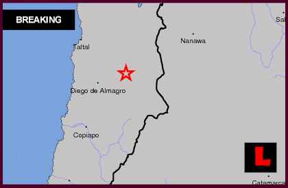 Chile Earthquake Today 2013 Strikes Near Diego de Almagro