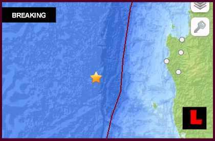 Chile Earthquake Today 2013: 5.0 Strikes Off the Coast