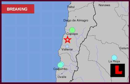 Chile Earthquake Today 2013, Terremoto Strikes Near Copiapo